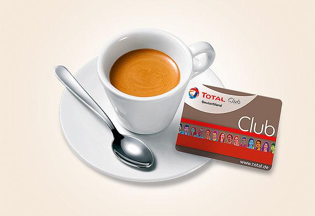 TOTAL CLUB Punkte: tanken, punkten, Kaffee!